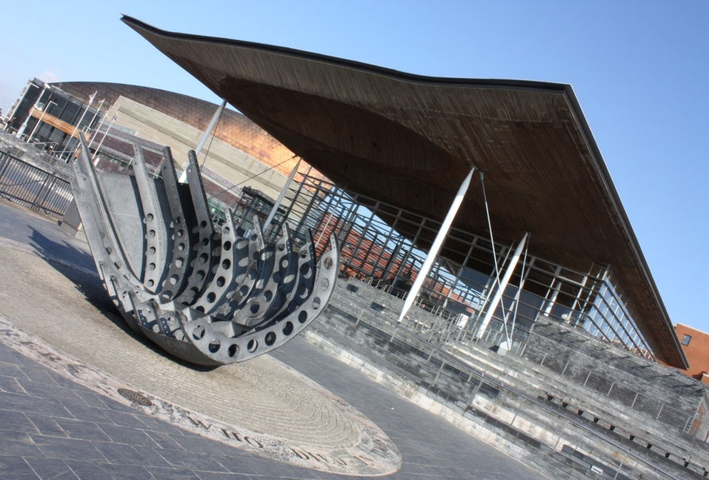 Exterior of The Senedd (National Assembly building)