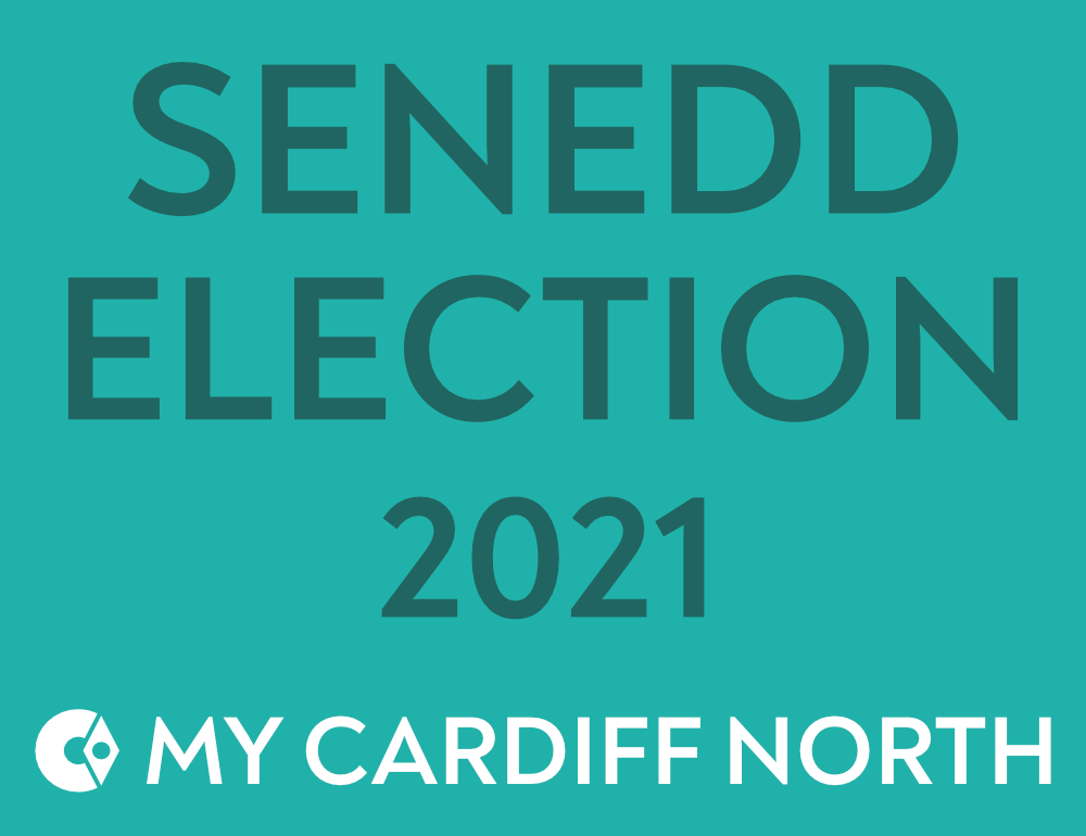 "Banner that reads, ""Senedd Election 2021""."